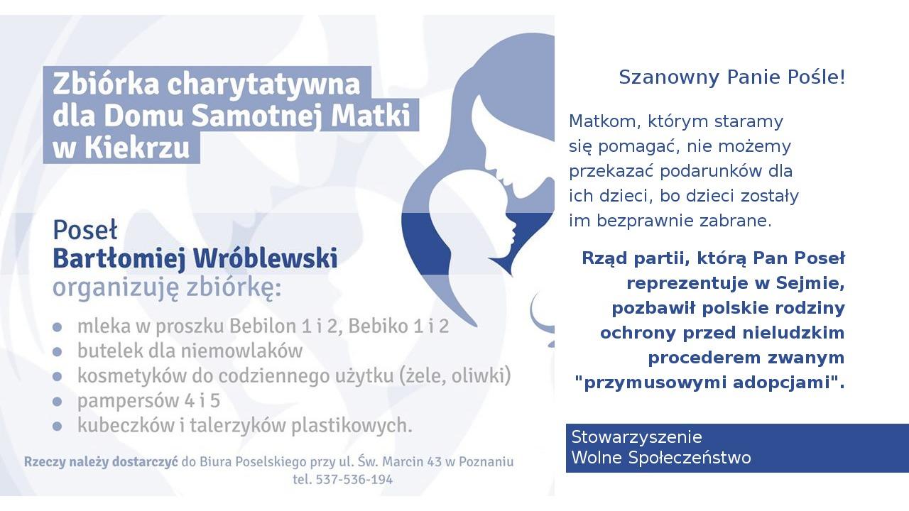 List do posła na Sejm w sprawie ochrony rodzin