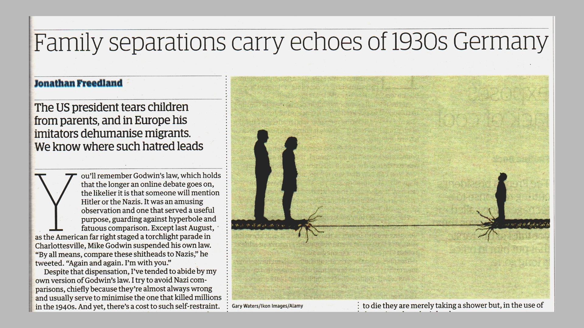 Rozdzielanie rodzin przypomina Niemcy lat trzydziestych