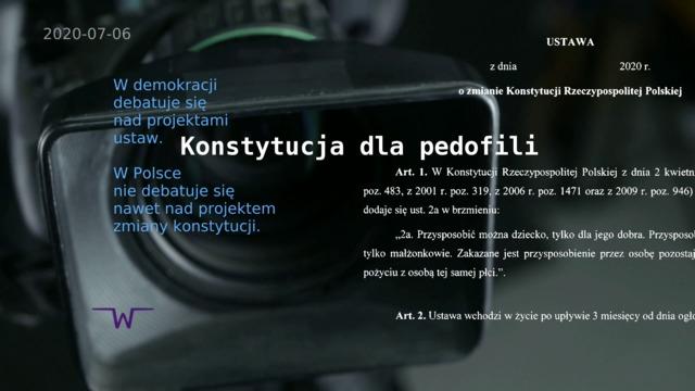 Konstytucja dla pedofili