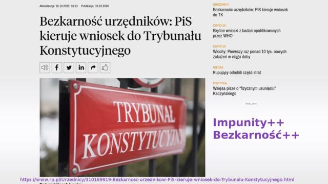 Rządowa bezkarność w Polsce