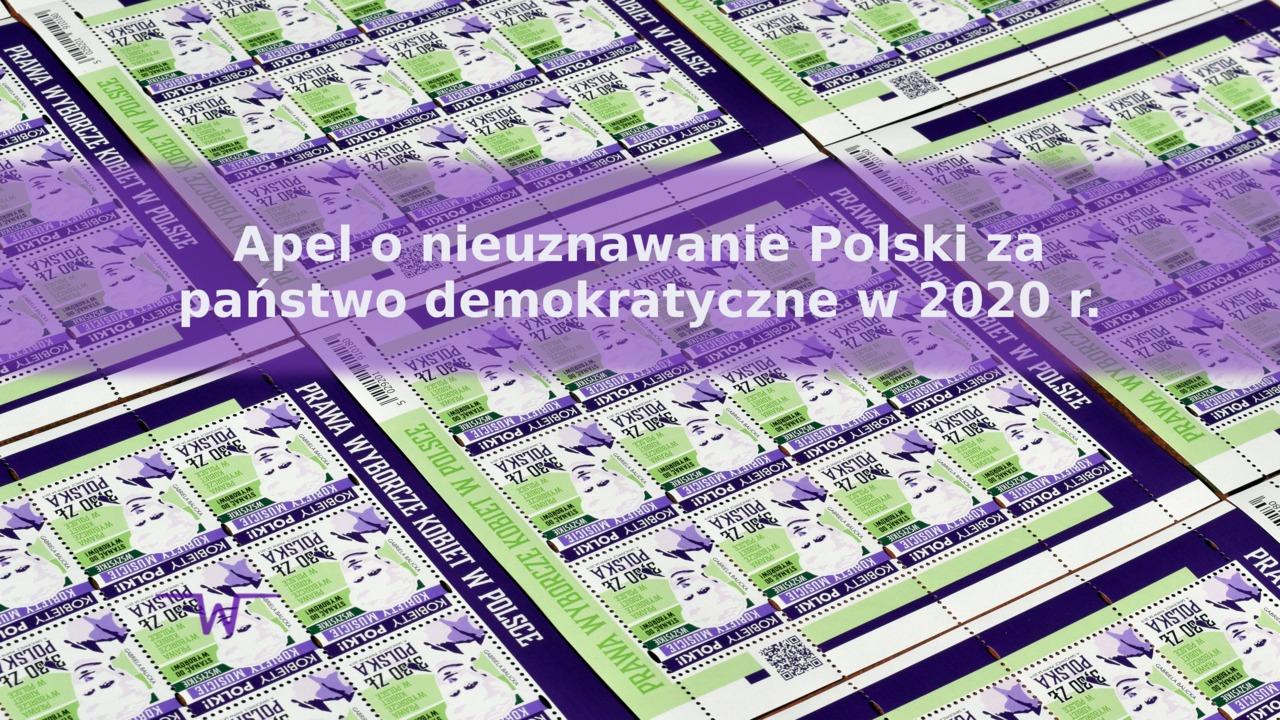Apel o nieuznawanie Polski za państwo demokratyczne w 2020 r.