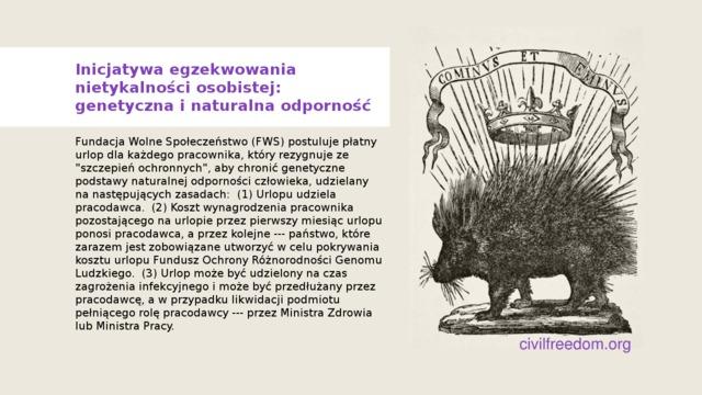 Inicjatywa egzekwowania nietykalności osobistej: naturalna odporność
